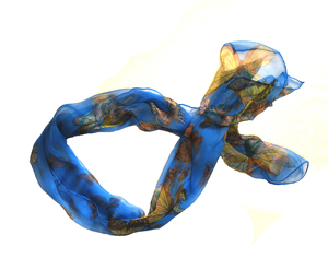 Foulard en Georgette de soie : collection papillon
