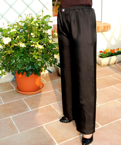 Carnet de Soie - Pantalon en satin de soie - Photo 3