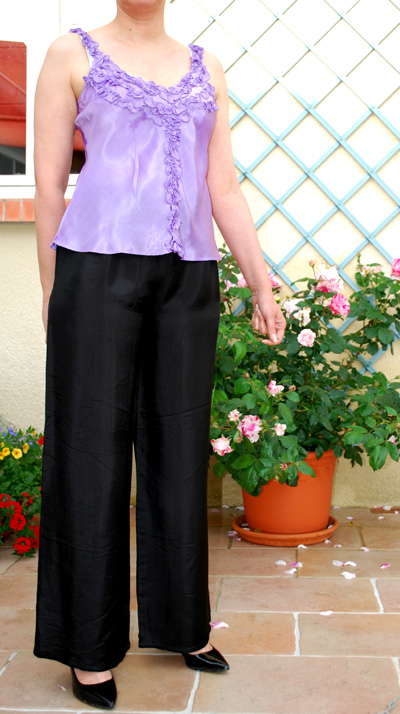 Carnet de Soie - Pantalon en satin de soie - Photo 4